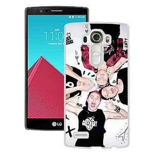 Hot Sale LG G4 Case ,5sos White LG G4 Cover Case Unique Popular Designed Phone Case