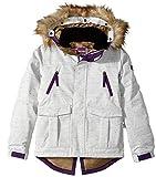 youth insulated jacket - 686 Girl's Harlow Insulated Jacket, White Slub, Medium