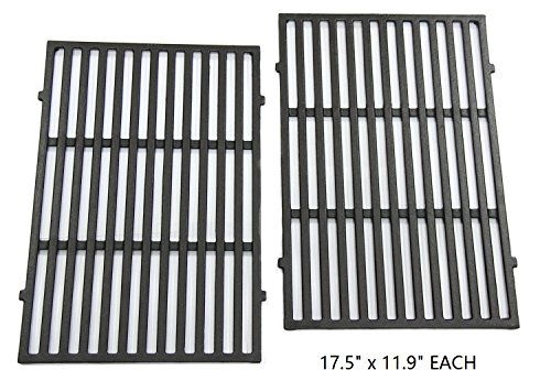 Hongso PCG638 Matte Cast-Iron Cooking Grates for Weber Spirit 300 series, Spirit 700, Genesis Silver B/C, Genesis Gold B/C, Genesis Platinum B/C, Genesis 1000-3500 gas grills, aftermarket replacements (Replacement Grates Bbq)
