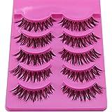 GUAngqi 5 Pairs Natural Look Fake Eye Lash False Eyelashes Extension Makeup