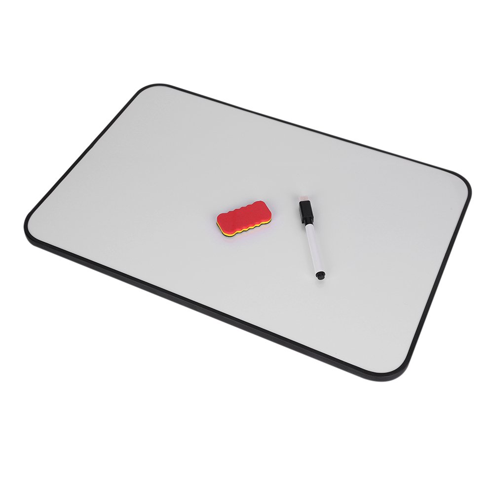 Whiteboard 17.7 x 11.8 Handheld/Hanging Dry Erase Board with Pen Slot Whiteboard Pen & Eraser for Children Playing Writing Drawing Office Presentation Planning School Teaching Students Kids