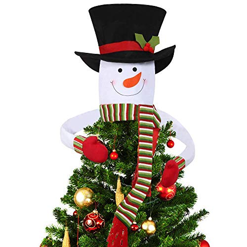 - DegGod Christmas Tree Topper, Cute Snowman Top Hat Hugger Winter Wonderland Party Thanksgiving Year Xmas Tree Decorations Ornament (Green) ...