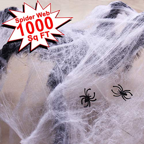 Web On Face For Halloween (Double Couple Halloween Fake Spider Web Decorations Outdoor & Indoor Decor)