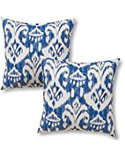 """Greendale Home Fashions 17"""" Outdoor Accent Pillows in Coastal Ikat (Set of 2)"""