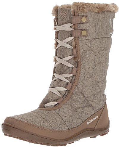 Columbia Women's Minx Mid Alta Omni-Heat Snow Boot, British Tan, Fawn, 9 B US by Columbia