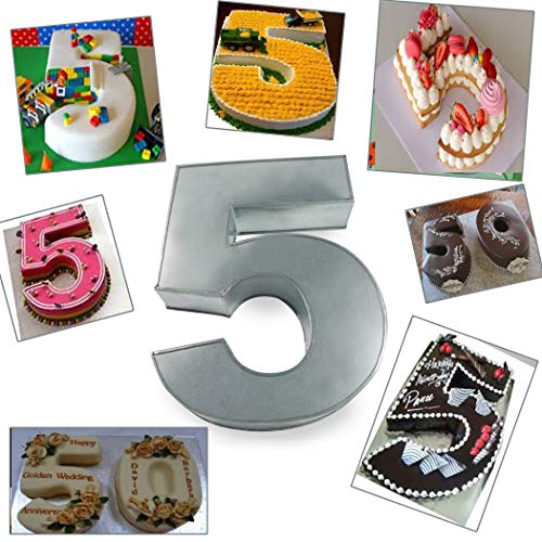 Large Number Five Birthday/Wedding Anniversary Cake Tins/Pans/Mould 14