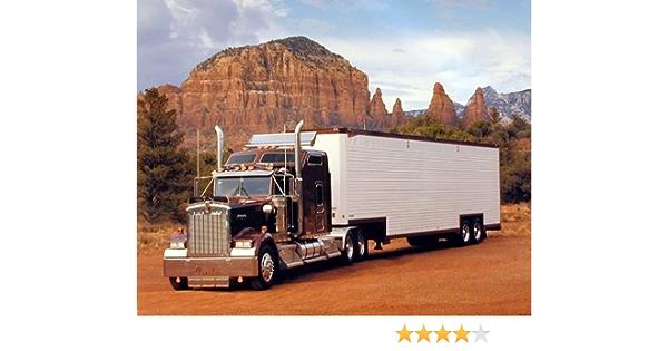 Peterbilt Semi with Trailer Big Rig Truck Wall Black Framed Picture Art 19x23