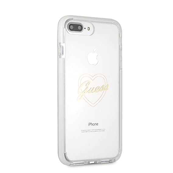 reputable site 4862a 9521a Guess iPhone 8 Plus & iPhone 7 Plus Case - by CG Mobile - Transparent TPU  Cell Phone Case   Easily Accessible Ports   Officially Licensed.