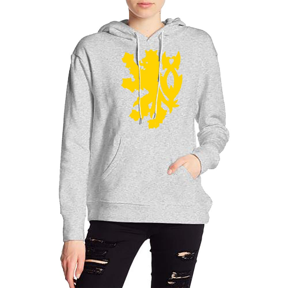 Woman Golden Lion Long Sleeve Casual Style Drawstring Hooded