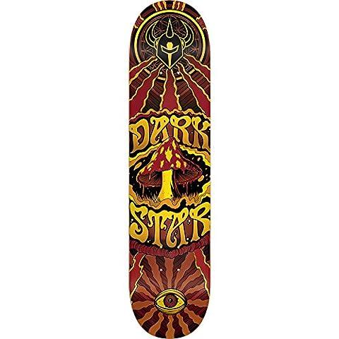Darkstar Skateboards Trippy Yellow / Brown Skateboard Deck - 7.75