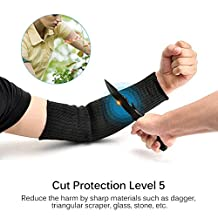 1 Pair Anti-Cut Arm Sleeves UV Protection Washable Arm Sleeves for Outdoor Working Riding Runing