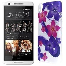 HTC Desire 626 / 626s Hard Case, CoverON® Slim Non-Slip Art Design Cover [Slender Fit Series] Phone Case For HTC Desire 626 / 626s - Hibiscus Flower