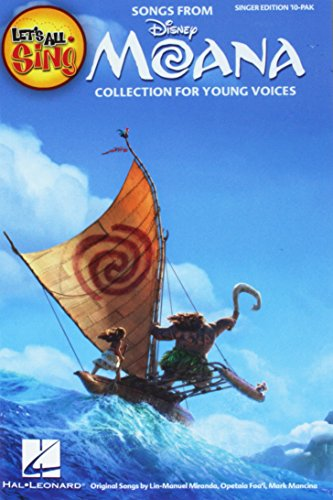 Edition 10 Pak - LET'S ALL SING SONGS FROM MOANA SINGER EDITION 10-PAK