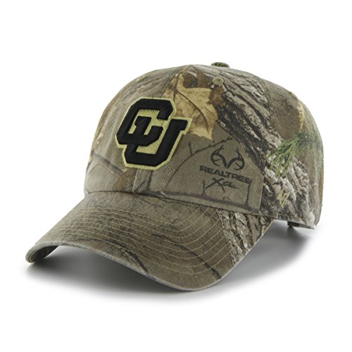 47 NCAA Colorado Buffaloes Adult Clean Up Realtree Adjustable Hat, One Size, Realtree Camo