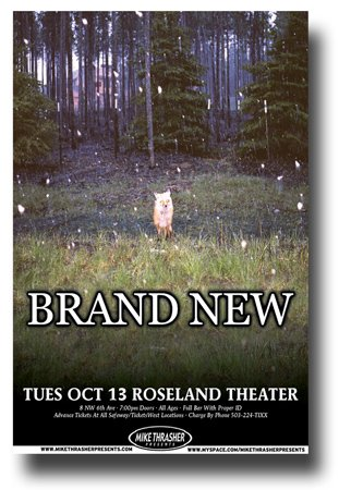 Brand New Poster Promo for a concert on the Daisy Tour Band Jesse Lacey Fox