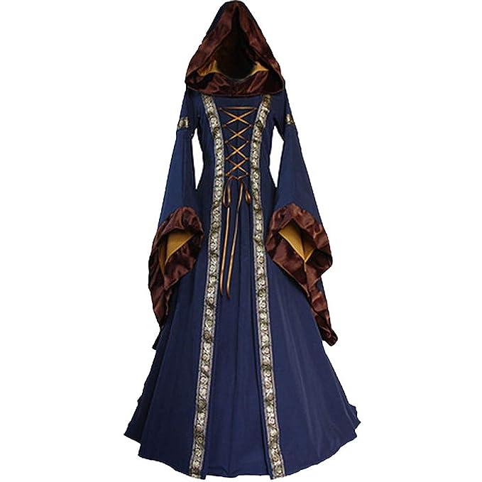 00026d1c4aa3 ChallengE Vestito Donna Abito Elegante Cerimonia Invernale Halloween  Medievale Renaissace Vintage Swing Dress Vestiti Abiti Donne Vestito da  Cocktail ...