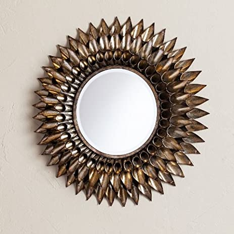 Amazon.com: Leandro Round Decorative Wall Mirror: Home & Kitchen