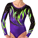 Demi Mystique Gymnastics Competition Leotards Rhinestone TL038 (AXS, Purple)