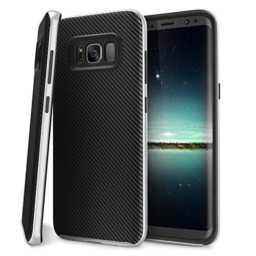 Galaxy S8 Plus Case, BASSTOP Premium Bumper Style Dual Layer Premium Case Slim Fit Heavy Duty Protective Cover for Samsung Galaxy S8 Plus 6.2 inch (Silver)