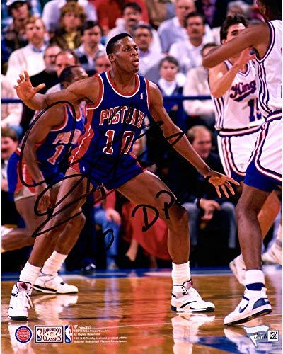 Dennis Rodman Detroit Pistons Autographed 8