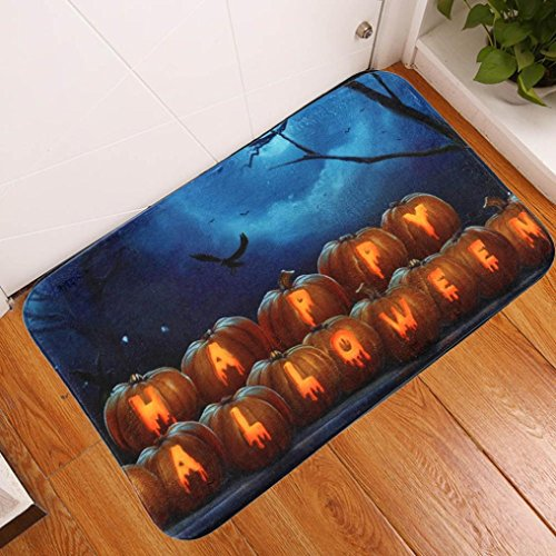 MMUA Halloween Welcome Doormat Shower Carpet Non-Slip Floor Doormat Entrance Rug Mat Blanket Rug Party Decoration Bath Mat Bathroom Home Ornaments Gift NEW (Multicolor - 629) (Family Personalized Doormats)