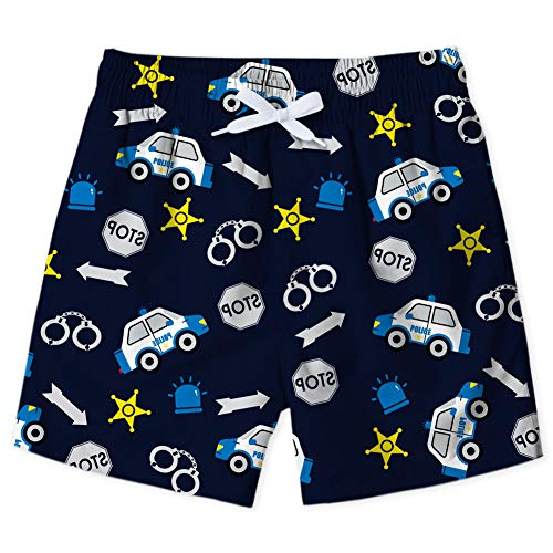 Enlifety Boys Galaxy Cars Print Swim Trunks Summer Cool Quick Dry Board Shorts Bathing Suit with Side Pockets 4-5 Years