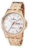 watch champion - Champion CA31122Z Men's Watch Rose Tone Stainless Steel With White Dial Day/Date