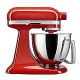 KitchenAid Artisan Mini Premium Tilt-Head Stand Mixer with Flex Edge Beater KSM3316XHT, 3.5 qt, Hot Sauce