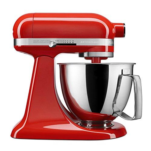 Cheap KitchenAid Artisan Mini Premium Tilt-Head Stand Mixer with Flex Edge Beater KSM3316XHT, 3.5 qt, Hot Sauce