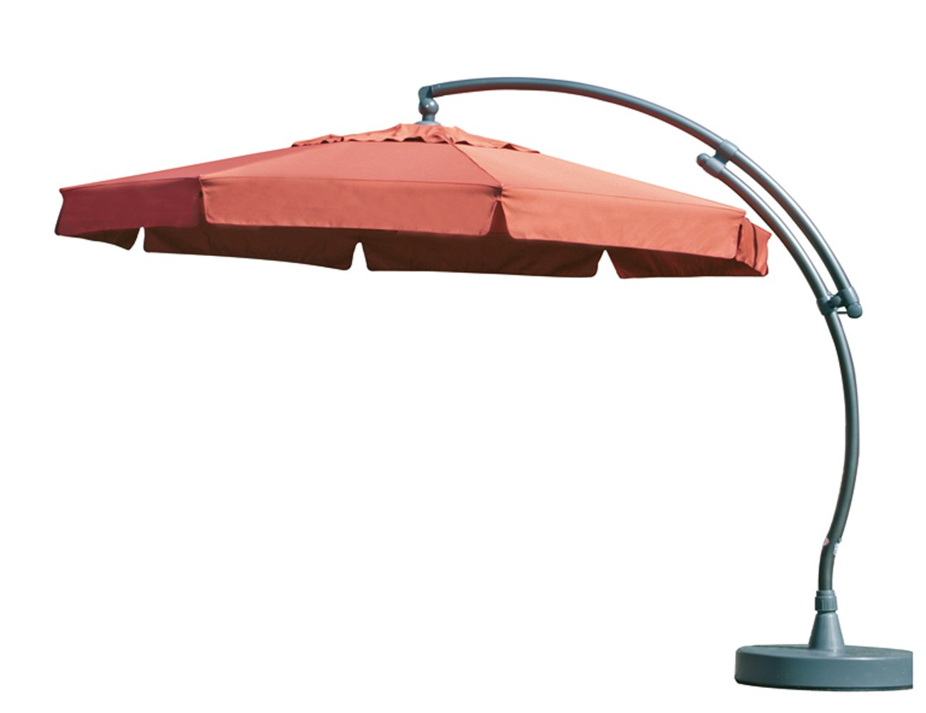 Sun Garden 10116068 Premium Easy-Sun 3.5 m inklusive Hülle und Lampe Gestell, anthrazit / terracotta