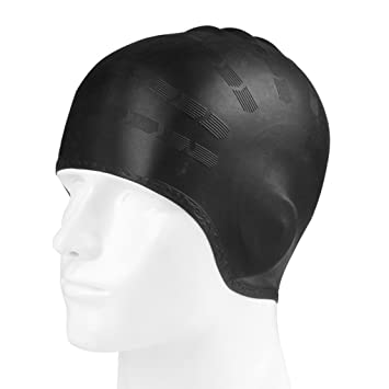 39791df3ebe Waterproof Swim Cap Ear Covers for Adult Youth Solid Silicone Swim Caps For Women  Girls Long Hair Boys Men Short Hair With 3D Ergonomic Design Ear ...