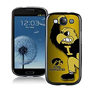 Iowa Hawkeyes Black Hottest Sell Customized Samsung Galaxy S3 I9300 Case