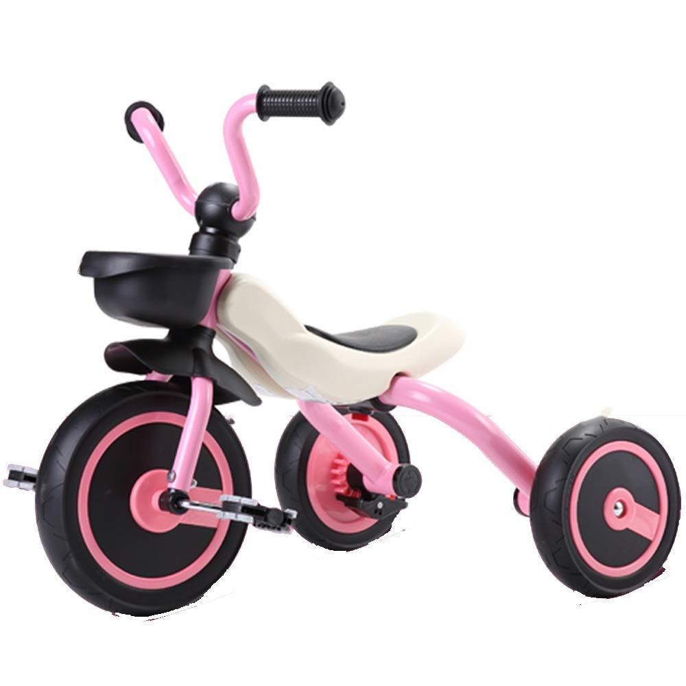 YUMEIGE 子ども用自転車 子供トライク1-6歳ネイティブ素材赤ちゃん自転車子供のおもちゃの車男の子と女の子のためのギフト 利用できるサイズ (色 : ピンク)  ピンク B07QJ61CPG