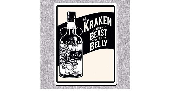 LINA Kraken Ron Belly Beast Metal ligero Vintage Tin Sign ...