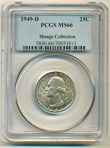 1949 D Washington Quarter MS66 PCGS