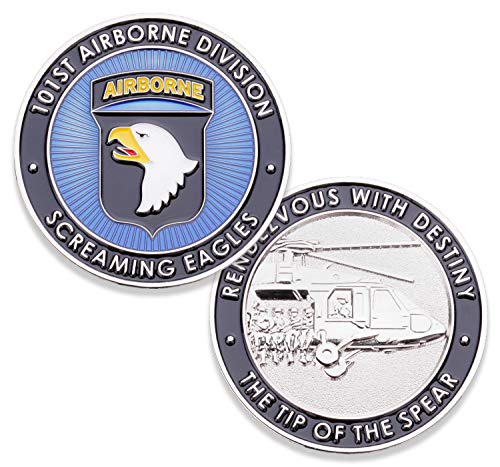 101st U.S. Army Airborne Challenge Coin! Amazing US Army Custom Coin, 101st Airborne Military Challenge Coin! Designed by Military Veterans! Officially Licensed Product!