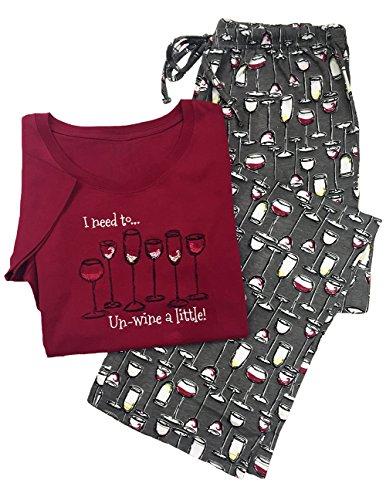 Un-Wine a Little Sleepwear Set - Loungewear for Wine Lovers