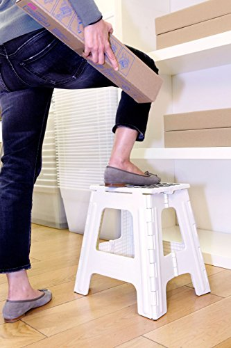 Kikkerland Rhino Tall Folding Step Stool White Import