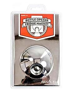 SUCK UK Bottle Opener Fridge Magnet - Chrome