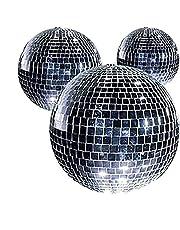 Set van 5 spiegelballen diameter 50 mm Clubball discobal speciaal effect 70