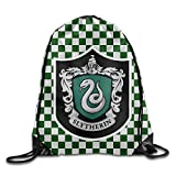 AYASHOP Harry Potter Slytherin Drawstring Backpack Sack Bag/Travel Bag For Sale