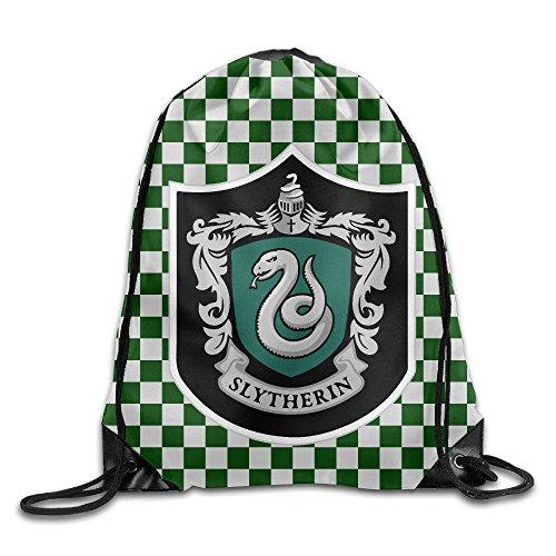 AYASHOP Harry Potter Slytherin Drawstring Backpack Sack Bag/Travel Bag