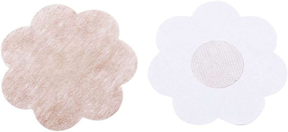Kawaicat 20 Pairs Flower Adhesive Breasts Stickers Breast Disposable Paste