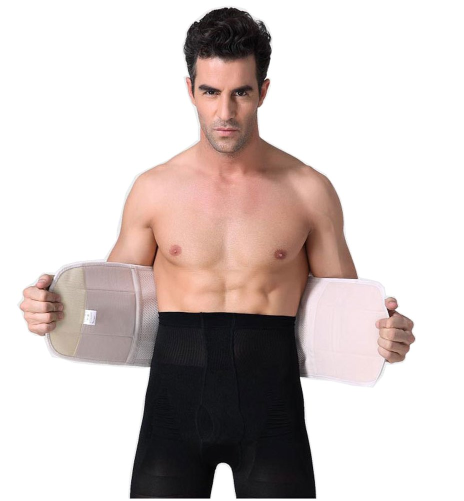 Laweisi Adjustable Men Waist Trimmer Trainer Belt Bodyshaper Brace Tummy Fat Burner For Fitness Weight Loss X-Large Skin