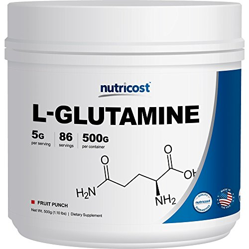 Nutricost L-Glutamine (500 Grams) (Fruit Punch)