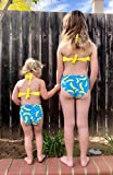 Girls Swimsuit Falbala High Waisted Bikini Set