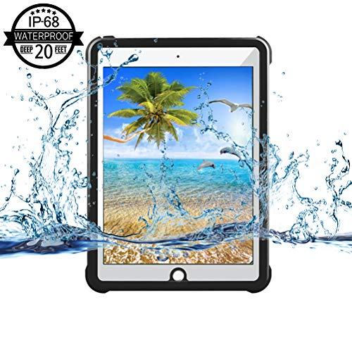 iPad 2017/iPad 2018 Waterproof Case,Yuvictor IP68 Full Sealed Protection Built in Screen Protector Shockproof Snowproof Dustproof Tablet Cover for iPad 2017/2018 9.7 inch - Case Waterproof Generation