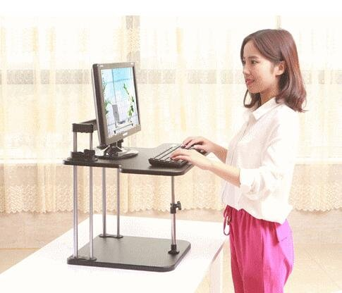 Best to Buy Portable Height Adjustable Desk Sit / Stand Elevating Desktop--5 seconds to change sit or stand by Best to Buy
