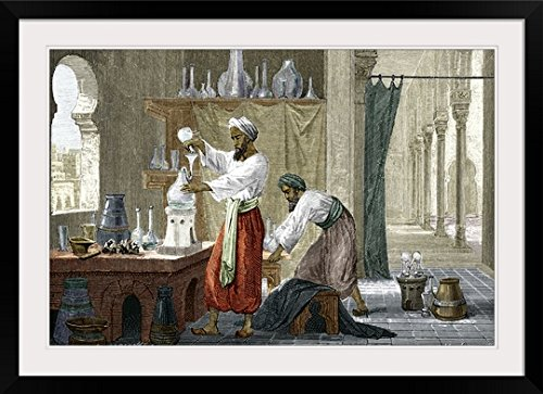 GreatBIGCanvas ''Rhazes, Islamic scholar'' by Sheila Terry Photographic Print with Black Frame, 36'' x 24'' by greatBIGcanvas