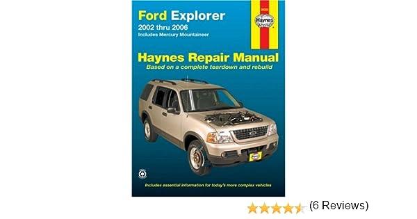 Ford explorer 2002 thru 2006 includes mercury mountaineer haynes ford explorer 2002 thru 2006 includes mercury mountaineer haynes repair manual ken freund 9781563926518 amazon books fandeluxe Choice Image